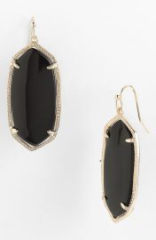Kendra Scott and39Elleand39 Drop Earrings in black at Nordstrom