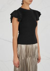 Kenia metallic wool blend top at Harvey Nichols