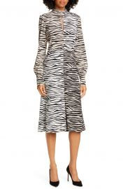 Kennedy Long Sleeve Tiger Print Dress at Nordstrom