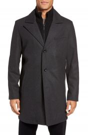 Kenneth Cole New York Bib Inset Wool Blend Coat at Nordstrom
