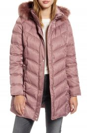 Kenneth Cole New York Faux Fur Trim Puffer Jacket   Nordstrom at Nordstrom