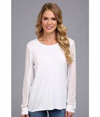 Kenneth Cole New York Heli Knit Top White at 6pm
