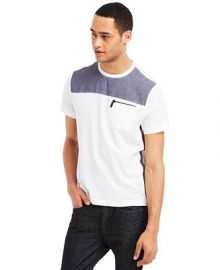 Kenneth Cole Reaction Chambray Crew-Neck T-Shirt at Macys