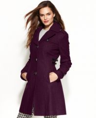 Kenneth Cole Side Buckle Coat at Macys