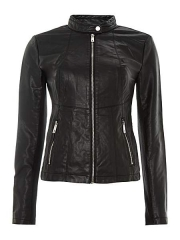 Kenneth Cole Zip up leather jacket at House of Fraser