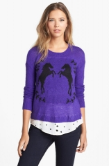 Kensie horse sweater at Nordstrom