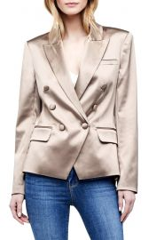 Kenzie Satin Double Breasted Blazer at Nordstrom