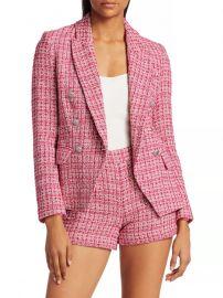 Kenzie Tweed Double-Breasted Blazer at Saks Fifth Avenue
