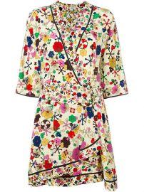 Kenzo   39 Tanami Flower  39  Wrap Dress at Farfetch