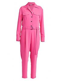 Kenzo - Belted Crepe Jumpsuit at Saks Fifth Avenue