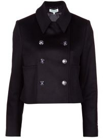 Kenzo Cropped Peacoat - at Farfetch