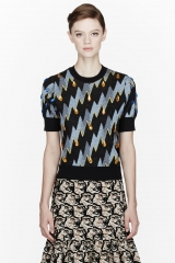 Kenzo Lightning Bolt Gemmed Sweater at SSENSE