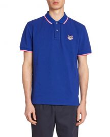 Kenzo Men  x27 s Tiger Crest Polo Shirt at Neiman Marcus