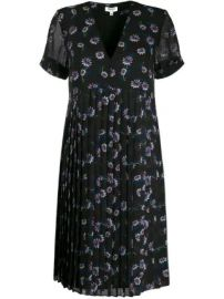 Kenzo Passion Flower pleated dress Passion Flower pleated dress at Farfetch