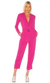 Kenzo Soft Crepe Jumpsuit in Deep Fuchsia from Revolve com at Revolve