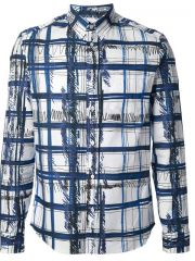 Kenzo and39scribble Checkand39 Shirt - Twistand39nand39scout at Farfetch