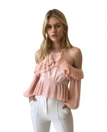 Keppel Pleat Top in Pearl by Acler at Coco and Lola
