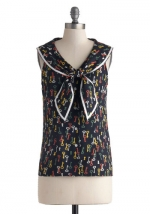 Key to the Sea top by Bettie Page at Modcloth