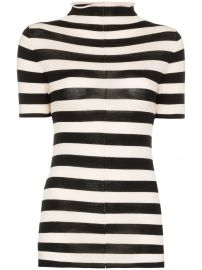 Khaite Nidia striped knit top Nidia striped knit top at Farfetch