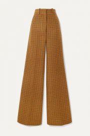 Khaite - Bernadette checked wool wide-leg pants at Net A Porter
