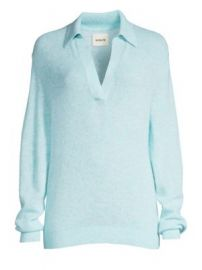 Khaite - Jo Collar V-Neck Knit Top at Saks Fifth Avenue