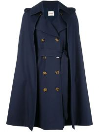 Khaite Cape double-breasted Coat - Farfetch at Farfetch