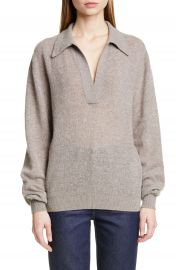 Khaite Jo Stretch Cashmere Polo Sweater   Nordstrom at Nordstrom