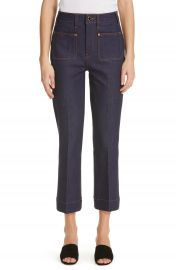Khaite Raquel Crop Flare Jeans   Nordstrom at Nordstrom