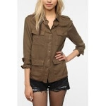 Khaki shirt from Urban Outfitters at Urban Outfitters