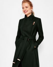 Kikiie Cashmere-blend Wrap Front Coat by Ted Baker at Ted Baker