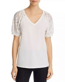 Kim  amp  Cami Lace-Sleeve Top Women - Bloomingdale s at Bloomingdales