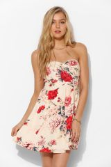 Kimchi Blue Floral Strapless Dress at Urban Outfitters