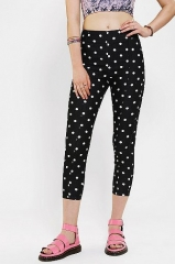 Kimchi Blue Printed High-Rise Pinup Pant in polka dot at Urban Outfitters