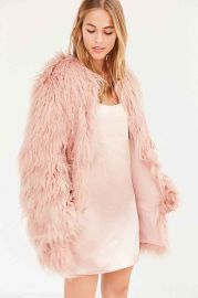 Kimchi Blue Stella Shaggy Faux Fur Coat at Urban Outfitters