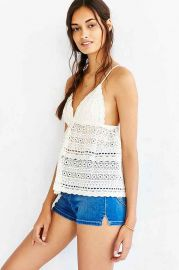 Kimchi Blue Wild Child Eyelet Camisole at Urban Outfitters