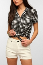 Kimchi Blue gingham check shirt at Urban Outfitters at Urban Outfitters