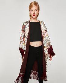 Kimono with Fringe by Zara at Zara
