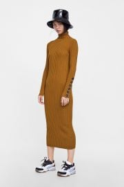 Knit Dress with Buttons by Zara at Zara