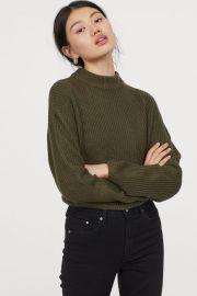 Knit Mock-turtleneck Sweater at H&M
