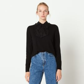 Knit Sweater Decorated with Bow by Sandro at Sandro