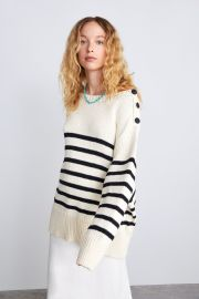 Knit Sweater with Stripes by Zara at Zara