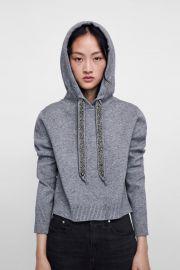 Knit Sweatshirt with Sparkly Stripes by Zara at Zara