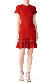 Knit Zig Zag Dress by Jonathan Simkhai at Rent The Runway
