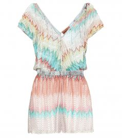 Knitted playsuit at Mytheresa