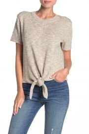 Knot-Front Sweater T-Shirt at Nordstrom Rack