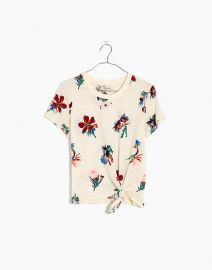 Knot-Front Tee in Hawaiian Hideaway at Madewell