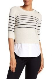 Knot Mariner Combo Silk & Cashmere Sweater at Nordstrom Rack