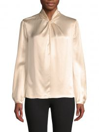 Knot Silk Top at Saks Off Fifth