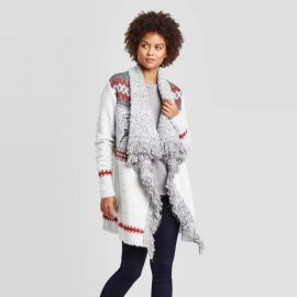 Knox Rose Holiday Open Cardigan With Fringe Detail at Target