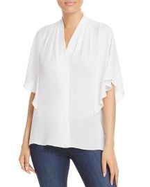 Kobi Halperin Carin Flutter-Sleeve Blouse at Bloomingdales
